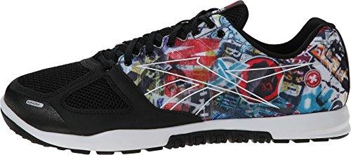Reebok Men's CrossFit? Nano 2.0 Sticker Black/White Sneaker 7 D (M)