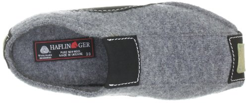 Haflinger Unisex Adults 411001 Low-Top Slippers Gray - Grau (Anthrazit 4) vFSl6