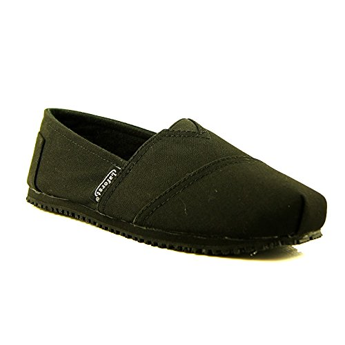 Laforst Dale 3312 Womens Work Slip Resistant Flat Slip On Shoes Black 7