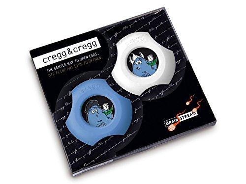 Cregg&Cregg DelftEdition GB/D in 2er Geschenkbox Eierschalenschneider, Eierbecher & Serviettenring