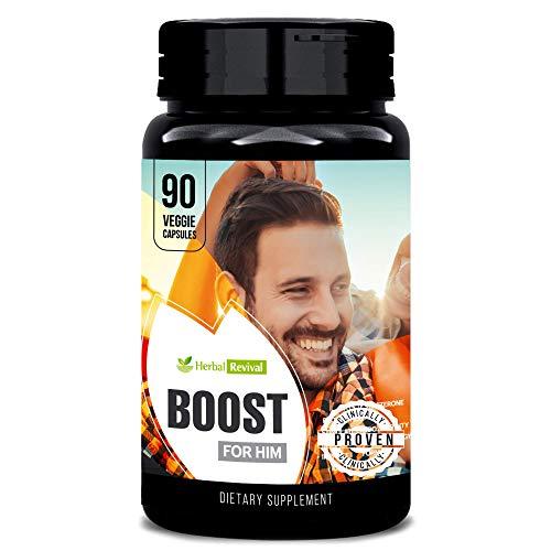 Herbal Revival Boost for Him Organic Male Supplement 90 Veg Capsules