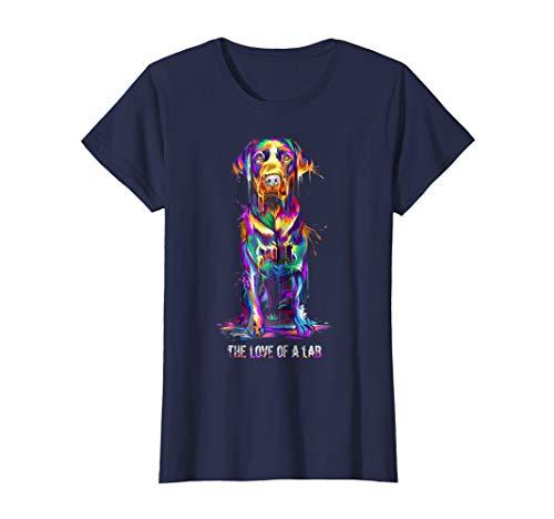 Womens The Love Of Labrador Retriever T-Shirt XL Navy