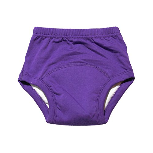 Stages Bamboo Cloth Potty Training Pants - Boys or Girls Toddler Underwear - Large 4T (Eggplant)