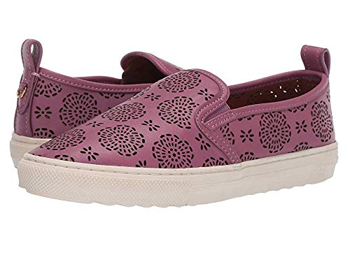 Coach Women's C115 Slip-On Sneaker with Cut Out Tea Rose Primrose 9.5 B US Coach Womens Shoes Sneakers