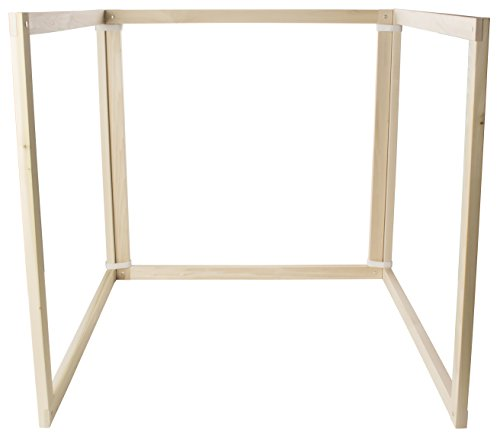 Wood Panel 3 Natural (Sarah's Silks 3 Panel Play Frame Portable All Natural Wood Fort Building Folding Easy Storage)