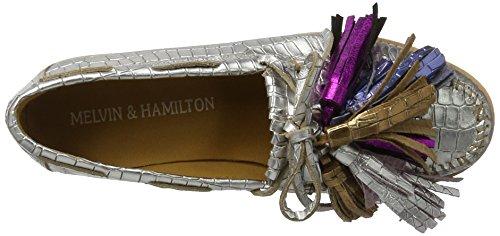 Melvin & Hamilton Dame Bea 4 Mokassin Silber (timor Sand (sølv) / Tassle Multi New Malden Hvid) 3gKcT