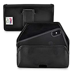 Turtleback Holster Designed For Iphone Xs 2018 Designed For Iphone X 2017 Belt Case Black Leather Pouch With Executive Belt Clip Horizontal Made In Usa