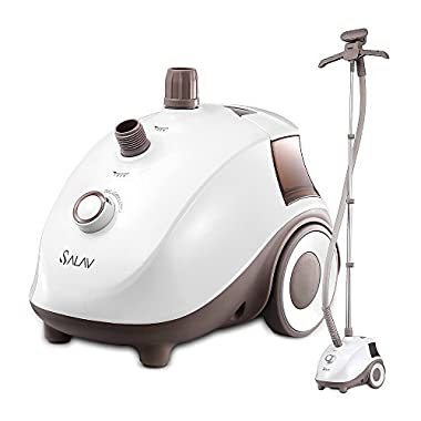 SALAV Clothes Steamer with 360 Degree Swivel Hanger, High Efficiency Metal Steam Panel, 4 Steam Settings, Free Limescale Removers, 1.5L Big Water Tank 1500W GS24-BJ Upgraded Eddition