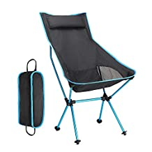 Lightwish Lengthen Portable Outdoor Fishing Camping Chair Lightweight Folding Chair for Festival Picnic BBQ Beach With Bag