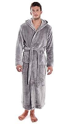 Verabella Men & Women's Ultra-Soft Plus Size Flannel Bath Robes w/Hoodie Option