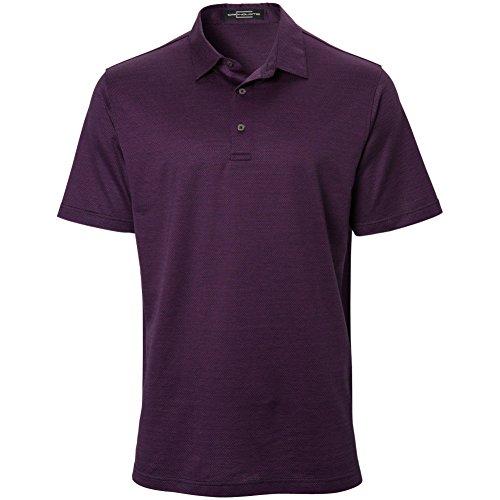 Carnoustie Mens Box Jacquard Polo Purple -