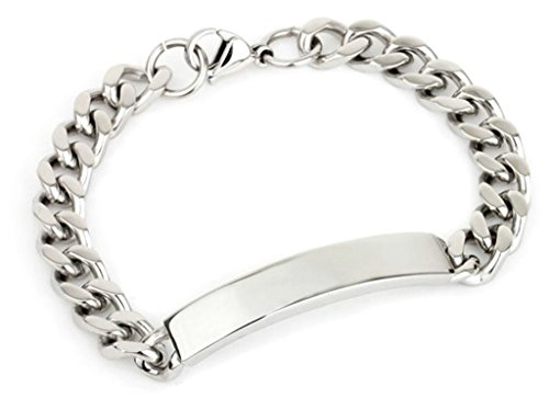 Viking Costume Walmart (Gnzoe Jewelry, Charm Stainless Steel Bracelet Bangle Silver For Unisex Men Women 21CM)