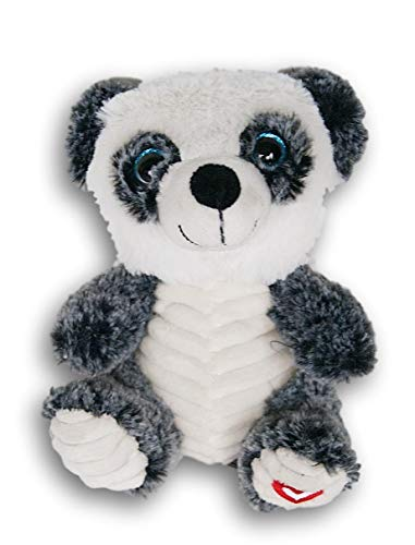 (Stuffed Animals Soft Plush Sitting Panda Bear with Heart Foot - 7 Inches Tall)