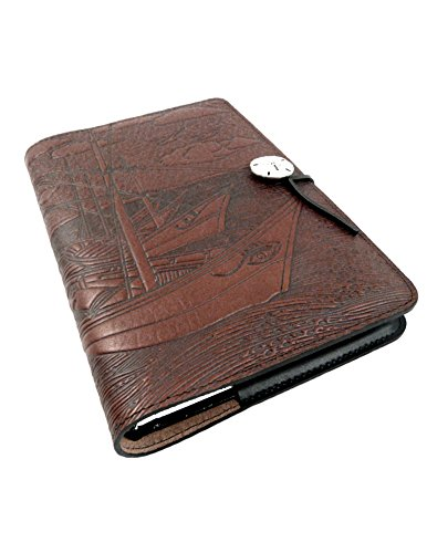 - Van Gogh Boats Embossed Leather Writing Journal, American Made, 6 x 9-inch + Refillable Hardbound Insert Book