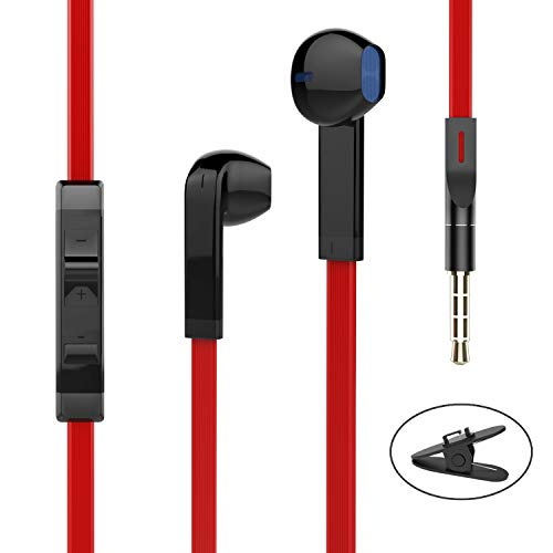 Earbuds Ear Buds Earphones with Microphone Mic Wired Noise Isolating Headphones Earbuds Stereo in Ear Ear Buds Compatible Samsung Android Smartphones Tablet Laptop 3.5mm Jack