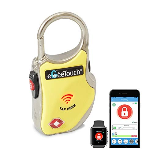 eGeeTouch Smart TSA Travel Lock - Secure & Track your Luggage/backpack anywhere you go - Yellow