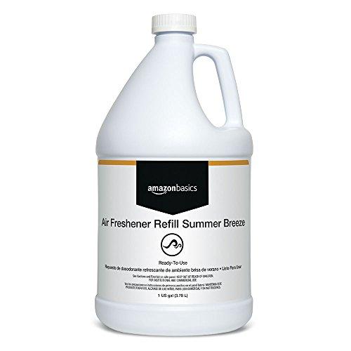 - AmazonBasics Professional Air Freshener Refill, Summer Breeze, 1-Gallon, 4-Pack