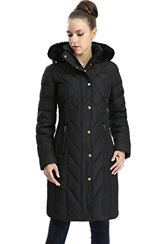 BGSD Women's Addi Waterproof Down Parka Coat - Black M -