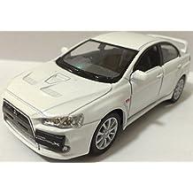 1:36 Scale 2008 Mitsubishi Lancer Evo Evolution X diecast CAR model 5 WHITE