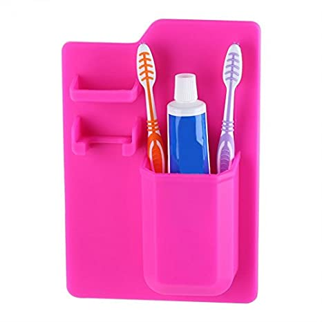 jedulin silicona baño organizador Mighty cepillo de dientes pasta de dientes titular de la maquinilla de
