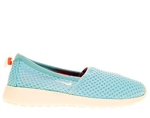 Nike Women's Roshe One Slip Aluminum/White/Bright Crimson Loafers & Slip-Ons Shoe 7.5 Women US