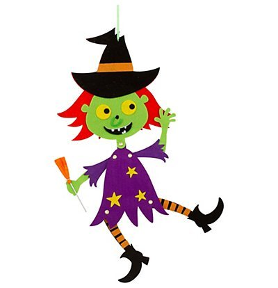 - Halloween Jointed Felt Hanging Decoration (Witch)