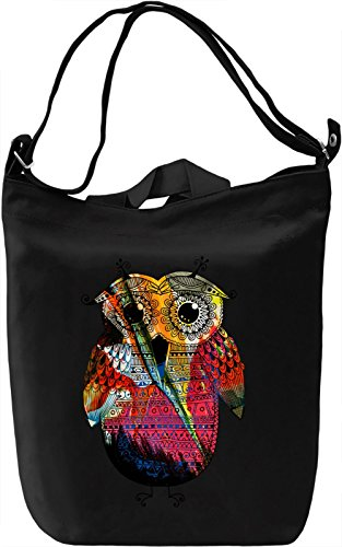 The Little Owl Borsa Giornaliera Canvas Canvas Day Bag| 100% Premium Cotton Canvas| DTG Printing|