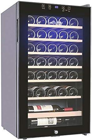 JJSFJH Vino de Refrigeración/Chiller, Vino Mostrador Rojo y Blanco Bodega, Independiente Frigorífico, Funcionamiento silencioso Nevera