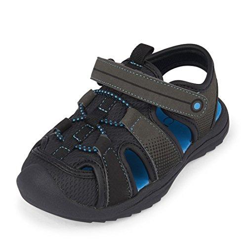 The Children's Place Boys' E TB Grizzly Flat Sandal, Grey, TDDLR 8 Medium US Infant