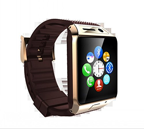 2015 new smart watch GV08S card Bluetooth Watches Sports pedometer information push PSG(Golden)