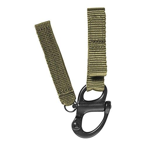 """Fusion Tactical Military Police Patrol Snap-Taste Klettband Keeper Schlüsselanhänger Schäkel Umreifungsmittelschleife 1"""" Breite / 7"""" Langer Satz von 4 Coyoten Brown"""