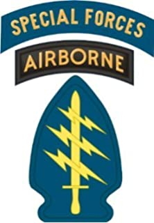United States Army Special Forces Airborne Tab Decal Sticker 38