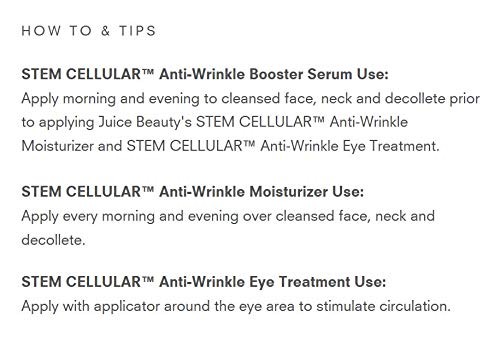 Juice Beauty Stem Cellular Anti-Wrinkle Solutions Kit, with Vitamin C