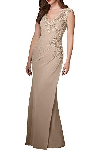 Langes Champagner Jugendweihe Chiffon Braut La Partykleider Damen Partykleider Pink Abendkleider Kleider Formal mia IwT7RB