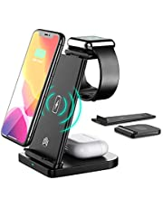 3 in 1 Fast Wireless Charger, Charging Station Compatible with Samsung S20/Note 20/S10, Wireless Charger Stand Dock for Galaxy Watch 3/Active 2,1/Gear S3/S2/Sport and Buds