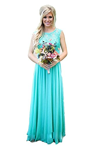 Meledy Women's A Line Ruched Sleeveless Bridesmaid Dress Straps Plus Size Prom Dresses Aqua US20 (Back Chiffon)