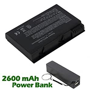 Battpit Bateria de repuesto para portátiles Acer Aspire 5652WLMi (4400mah/49wh) con 2600mAh Banco de energía/batería externa (negro) para Smartphone