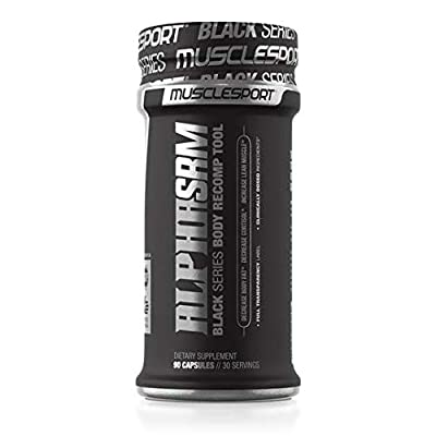AlphaSRM™ 90 Capsules, 2-in-1 Body RECOMP Tool, Lean Muscle Builder, Fat Burner, Thermogenic, Increases Metabolism, Testosterone Booster, Estrogen Blocker, Enhances Blood Flow
