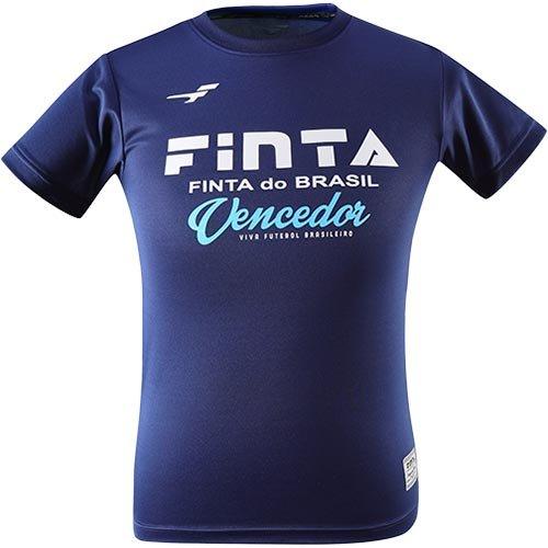 勝者ぶら下がるトリクル[フィンタ] ジュニア サッカーウェア プラクティス Tシャツ ネイビー FT6950 1100 160