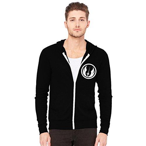 Decal Serpent Jedi Order Symbol Men's Triblend Full-Zip Lightweight Hoodie - [Black][L]]()