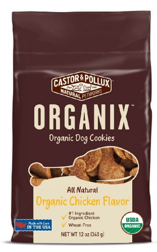 - Organix Organic Dog Cookies - Chicken Treats, 12-Ounce Packages (Pack of 4)