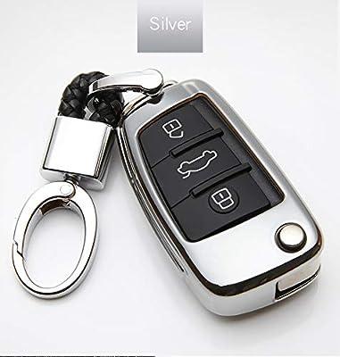 Amazon.com: Carcasa protectora de TPU para llaves de Audi A3 ...