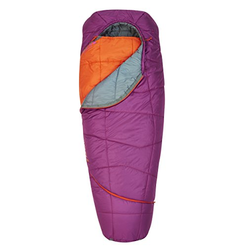 Kelty Women's TRU Comfort 20 Degree Sleeping Bag, Grape Juice/Fire Orange