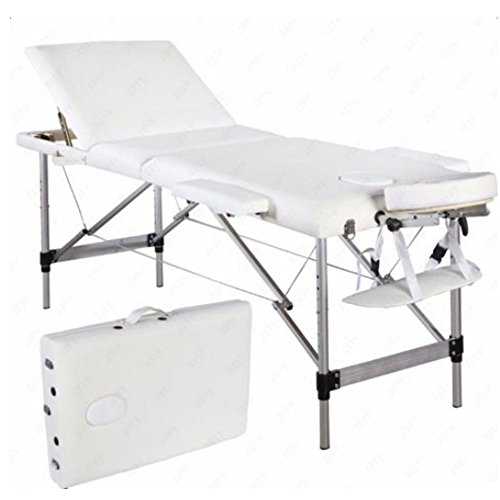3 Fold Aluminum Massage Table Portable Facial SPA Bed Tattoo Beauty Equipment by onestops8