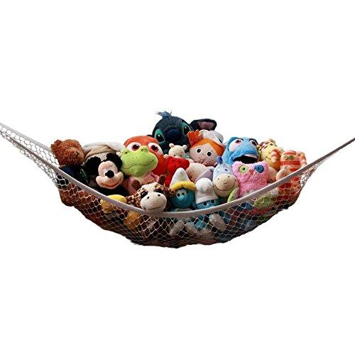 Forepin® Kinderzimmer Jumbo Spielzeug Hängematte Netz Ordnung Spielzeug Aufbewahrung Plüschtier Toy Organizer für Kinder (120 x 90 x 90cm)(Puppen sind nicht enthalten)