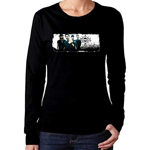 YUIf Women T Shirts Godsmack Band Large Long Sleeve Tee Black