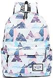 Yanaier Fashion Leisure Backpack for Girls Teenage Waterproof Cute Lightweight Simple Design Bookbag