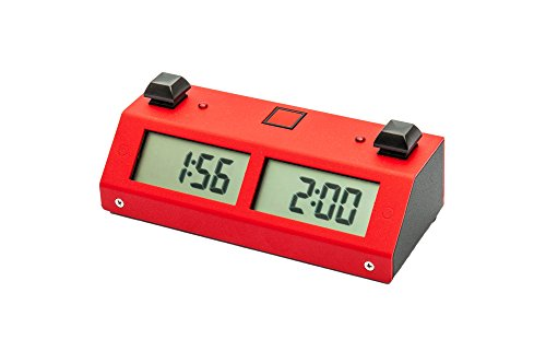 Chronos GX Digital Game Chess Clock - Button (Red) by US Chess Federation