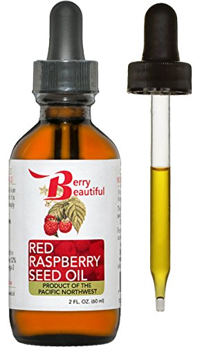Red Raspberry Seed Oil - Cold Pressed by Berry Beautiful from locally grown Raspberries - 100% Pure & Unrefined (2 fl oz)