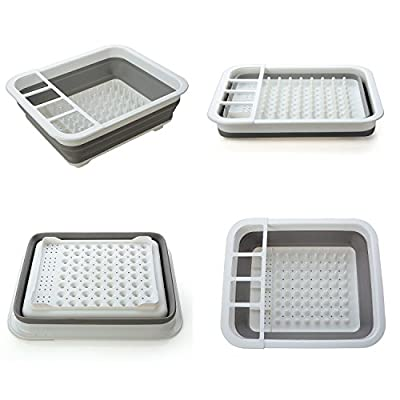 DHmart Collapsible Kitchen Filter Water Storage Rack Strainer Holder Multifunctional Drain Shelf Sink Dish Bowl Storage Holder